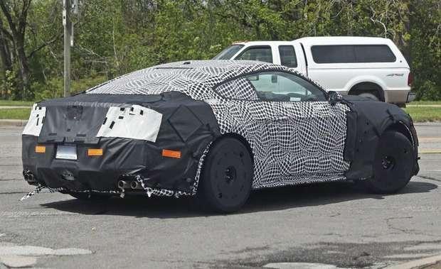 Силуэт будущего Ford Mustang Shelby GT500 2019