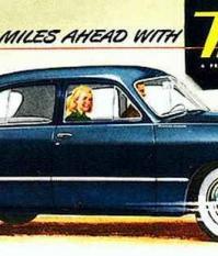 Meteor cars - рекламный плакат 1949 года