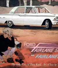 Рекламный плакат Ford Fairlane 500, 1962 года