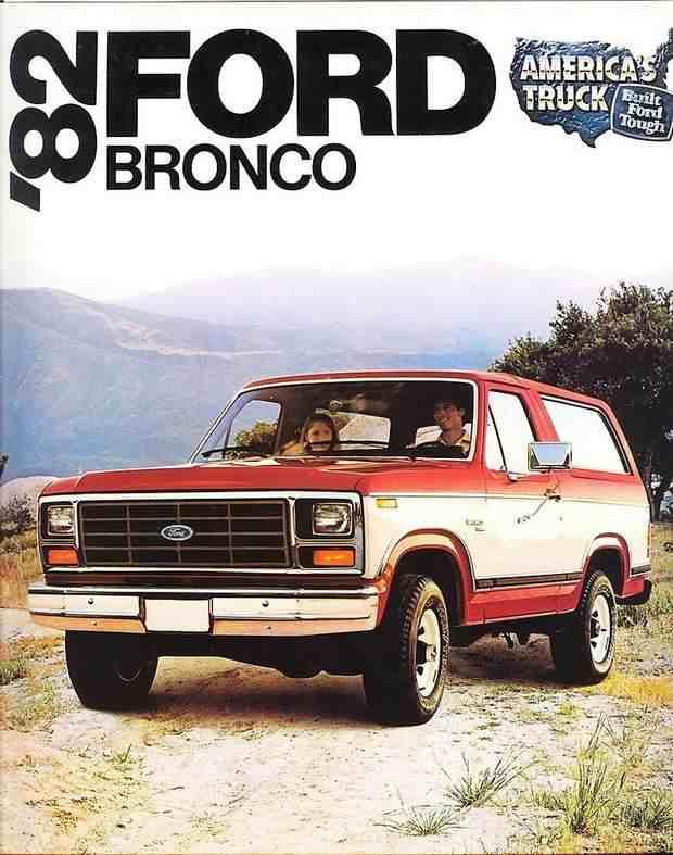 Ford Bronco Standard XLT на рекламном плакате в 1982 году