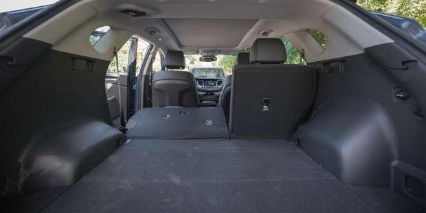 Багажник при сложенных сидениях