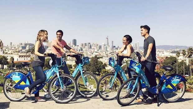 Форд планирует организовать более 7000 доступных для аренды велосипедов