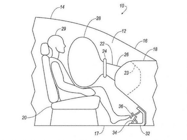 Подушка безопасности в рулевом колесе