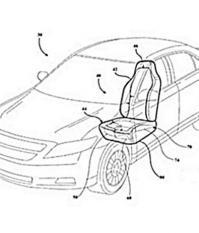 Специальные устройства в передней части сидений