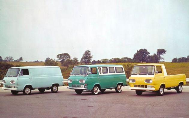 Семейство Ford Econoline, модели Van, Bus и Pickup Truck, 1960 год