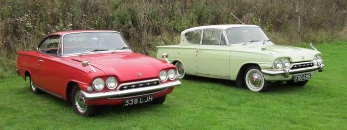 Рядом Ford Consul Capri и Ford Consul Classic