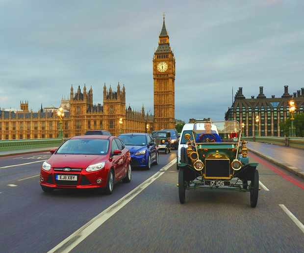 Парад европейских автомобилей Ford